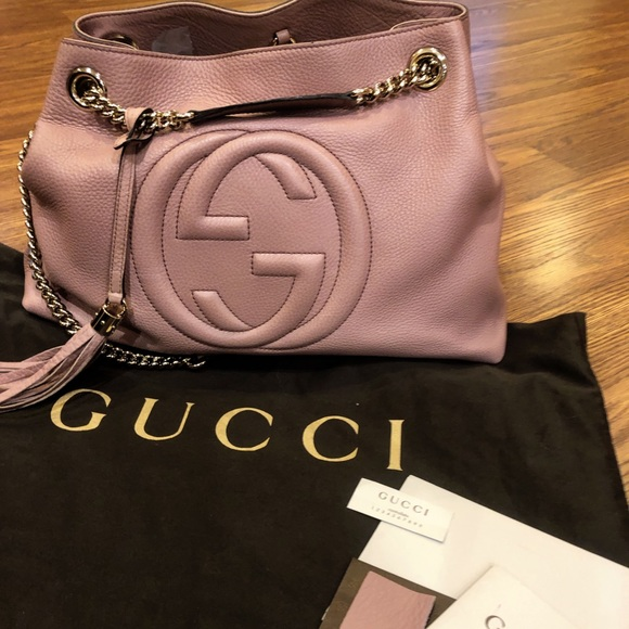Gucci Handbags - Authentic! GUCCI Soho Pink Chain Shoulder Bag